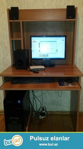 stol , 2 kalonka   1 basovka ile birlikde satilir<br />  teze format olunub<br />   ram 2<br />   videkart 2<br />