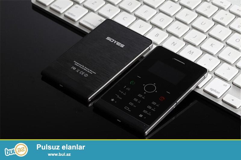 Yeni.çatdırılma pulsuz<br /> <br /> 1.3'' Soyes H1/H1-8 Mini Utra nazik kredi kartı boyda telefon<br /> Xüsusiyyətlər:<br /> 5...