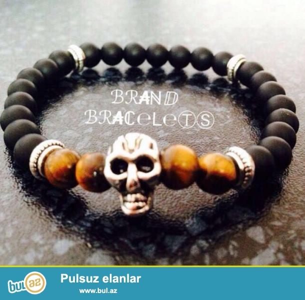 Bracelet tebii vulkanik daşlarnan hazirlanib<br /> Elaqe 055-838-08-86