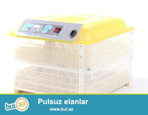 96 yumurtalıq aftamatik inkubator satıram.<br /> Toyuq bildirçin ördək qaz göyərçin hindi və başqa yumurtalar yığılaraq cücələr çıxarılır.