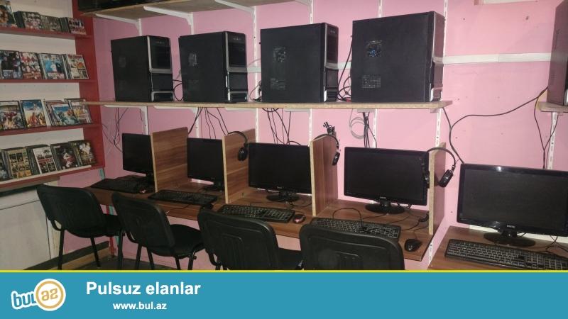 internet club ucun avadanliqlar satilir.<br /> 7 komputer zbor,( stol, stul, miska, klavyatura nausnik,setovoy kabelleri, tok kabelleri udilnitelleri, setovoy aparati 16 portlu, 1 eded kamerasi var...