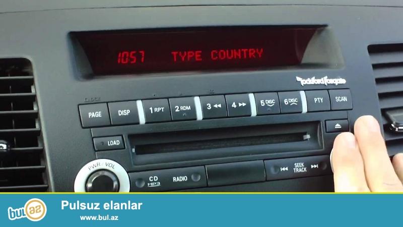 """""""Rockford Fosgate"""" firmasinin istehsali olan orijinal Mitshubishi Lancer avtomobilinin audio sistemini satiram..."""