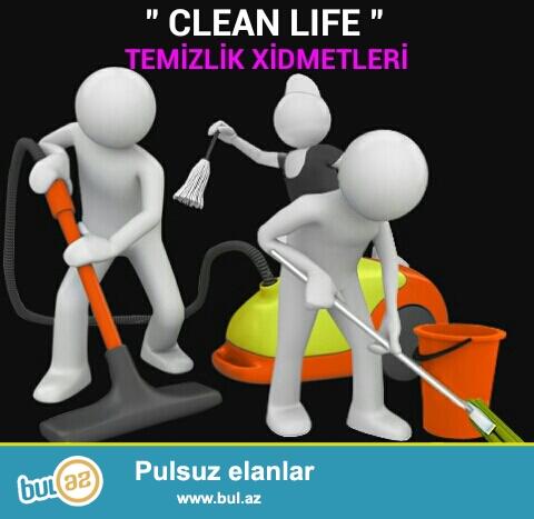 """CLEAN LIFE"" Temizlik sirketi olaraq size oz xidmetlerimizi teklif ediirik..."