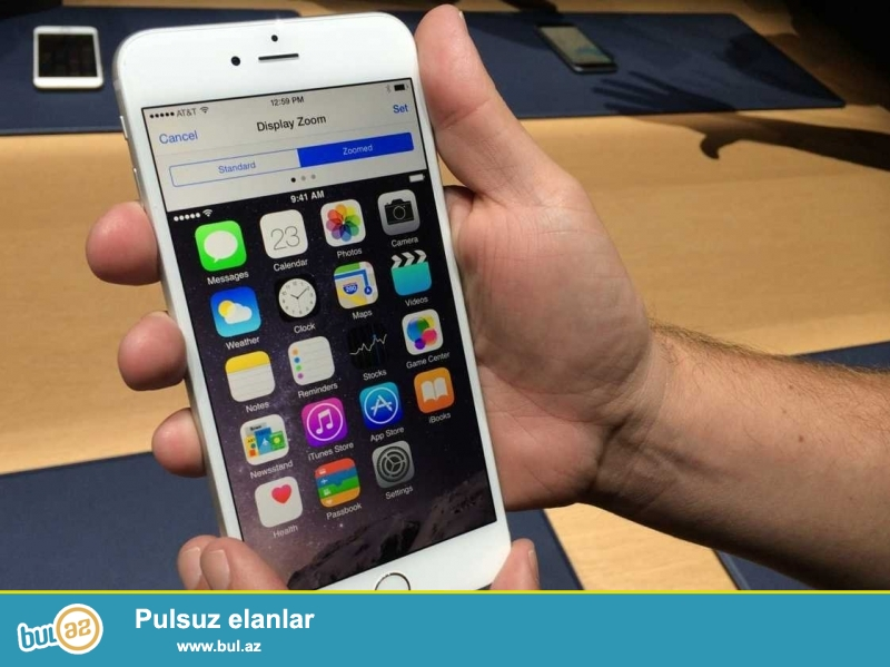 iPhone 6 plus white 16 gb ideal veziyyetde. qiymet standartdir...