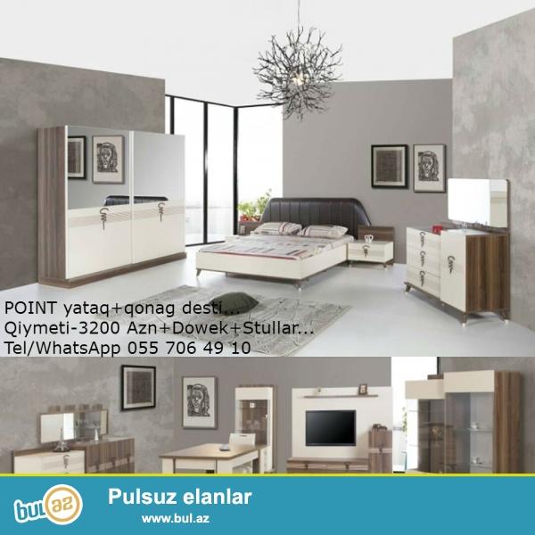 POINT yataq+qonag desti...<br /> Qiymeti-3200 Azn+Dowek+Stullar...