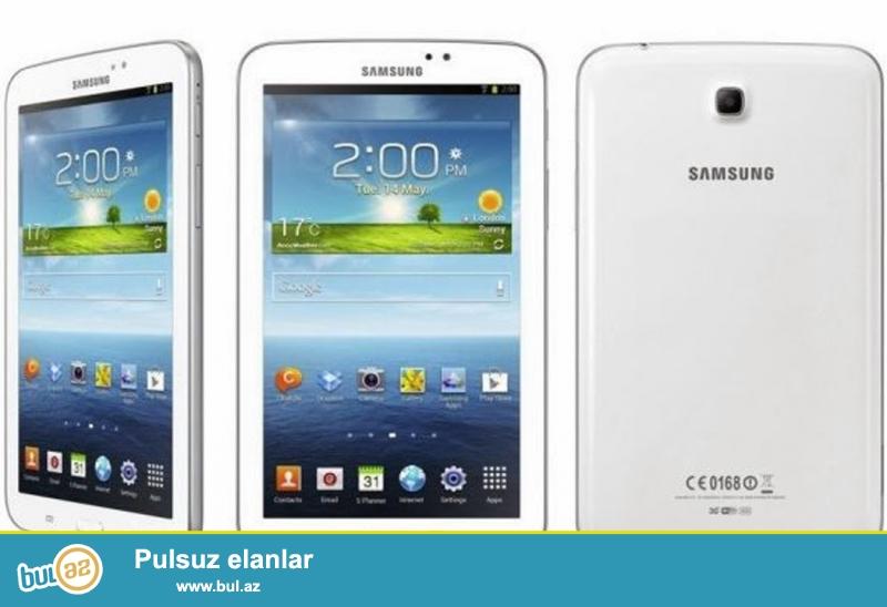 Samsung tab3 t110 satilir 60 azn nmre yeri yoxdur<br /> sensoru deyişilib yaxşı vəziyyətdədir<br /> karopkasi var