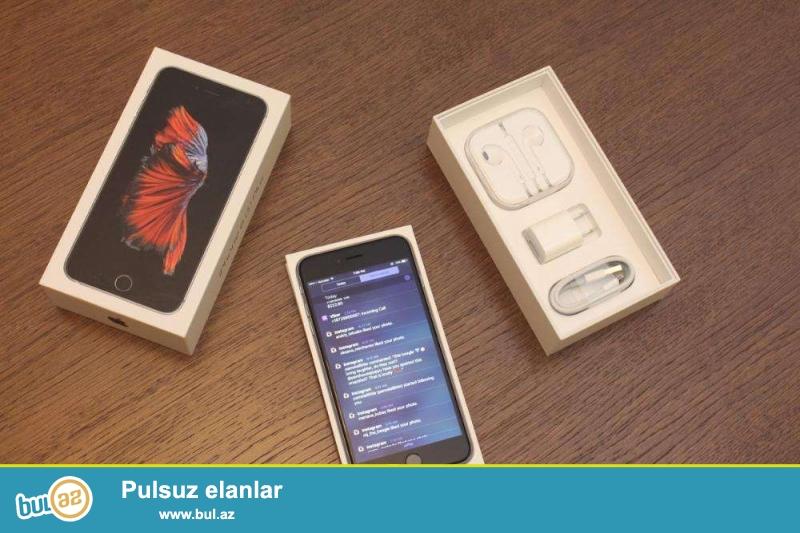 iPhone 6s AAA klass satilir her seyi var. tam yeni qutudadir...