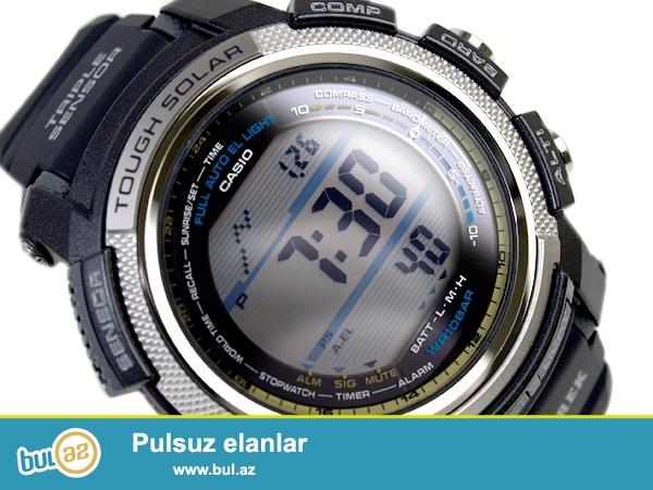 Casio ProTrek PRG-200(orginal).Solar sistem(güneşle işleyen),altmetr,barometr,termometr,kompas,dünya saatları...