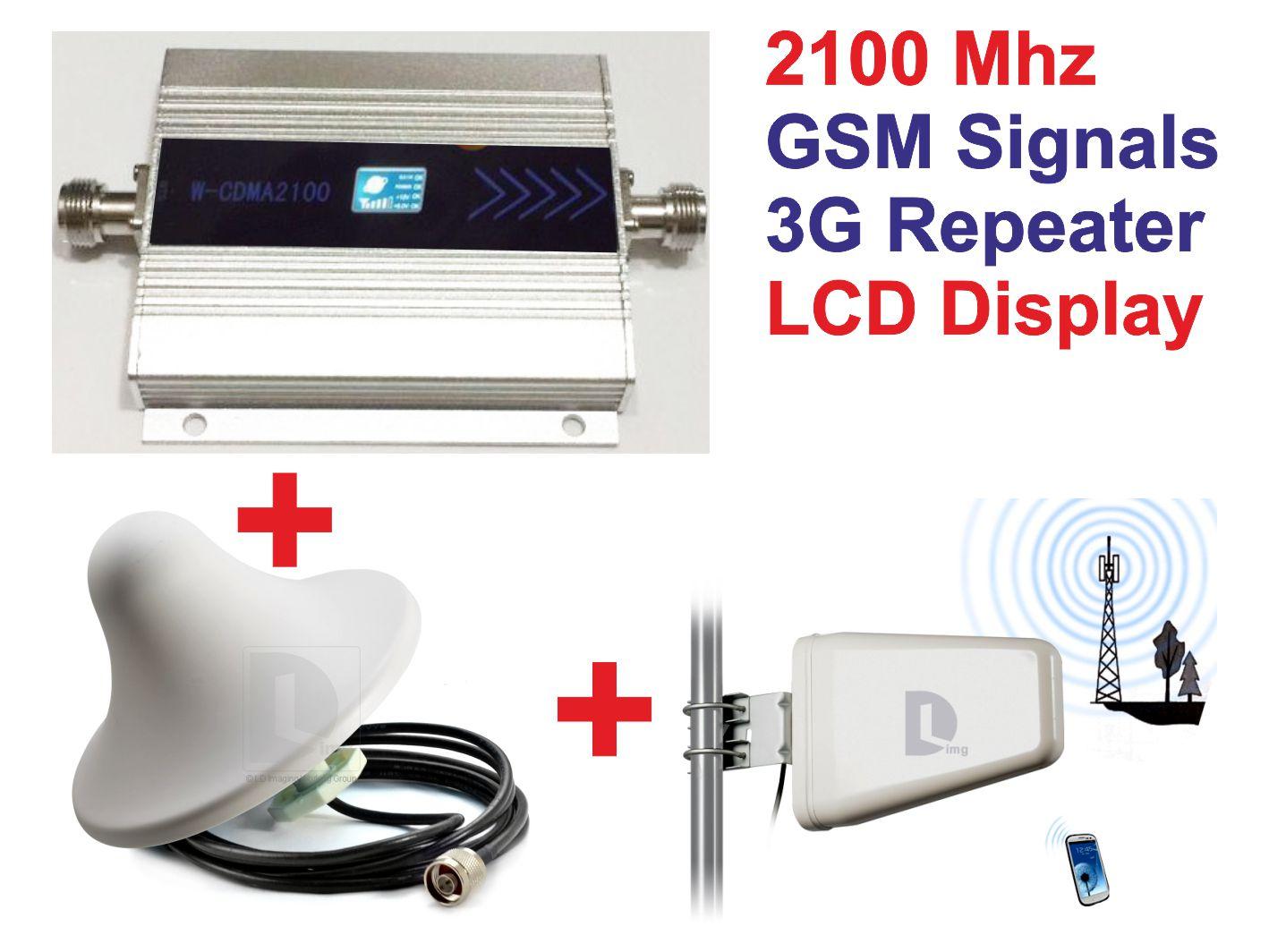 Семейные ЖК-3 г WCDMA 2100 мГц мобильного телефона Усилитель сигнала GSM репитер сигнала/ракеты-носителя усилитель/приемники...