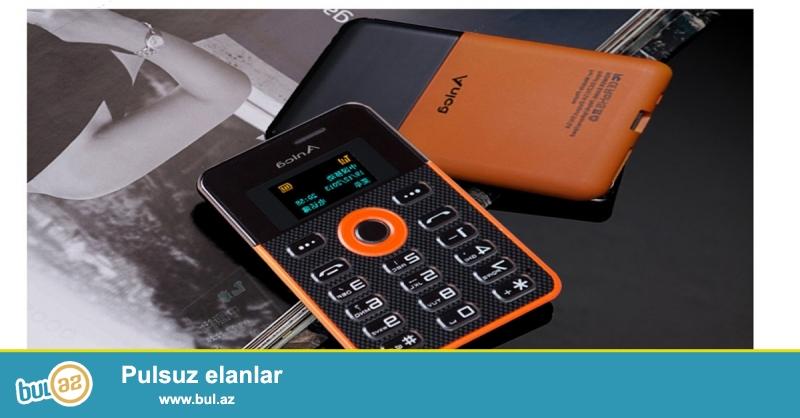 Yeni.Çatdırılma pulsuz<br />     Funksiyalar:FM Radio,MP3 Player var,Bluetooth var,Message var<br />     Batareya tutumu(mAh):800mAh<br />     Dillər:English,Russian,French,Spanish,Portuguese,Thai,Arabic<br />     Ölçüsü:85*53*4...