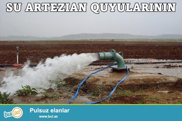 Baki ve bölgelerde su artezian quyularinin qazilmasi yuyulmasi su nasoslarinin satisi qurrasdirilmasi