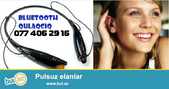 Həm rahat həm gözəl görünüşlü üstəlik yüksək səs effektinə malik olan birçox funksiaların bir qurğuda birləşdiyi Bluetooth Qulaqcıq...