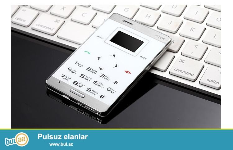 Yeni.Bağlı qutuda.Çatdırılma pulsuz<br /> <br /> Dünyanın en nazik SENSOR KLAVIATURALI balaca telefonu original AİK M3<br /> <br />     Dizayn:Bar<br />     Cellular:GSM<br />     SIM kart sayı:1<br />     Digər:FM Radio,MP3 Playback,Touchscreen,Bluetooth,Memory Card Slots,Message<br />     Vəziyyəti:Yeni<br />     Dillər:English,Russian,German,French,Spanish,Polish,və...