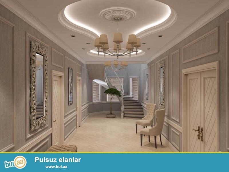 Heyet evlerinin tam tikilib tehvil verilmesi interyer exteryer lanshaft dizayn isleri evlerin temiri 220 Azn den baslayaraq material daxil kreditlede mumkundur.
