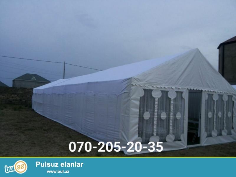 VIP və sadə çadırlar.Hər növ xidmətlər təşkil edirik...