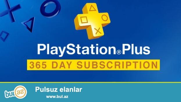 Playstation plus 1 illik (Playstation 4 ve 3 ucun)