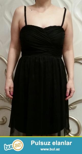 Dresses Yessica firması,38-40 razmer, qara rəngli ziyafət geyimi.