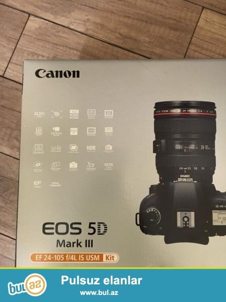 satış üçün təklif edirik.<br /> Bonanza! Bonanza !! Bonanza !!<br /> 2 kontur almaq və maddə üçün endirim<br /> <br /> Canon EOS 5D Mark III Camera + 24-105mm EF Lens<br /> <br /> EF 24-105 f / 4L USM IS<br /> çox yaxşı vəziyyətdə Perfect kamera, şarj, batareya hüceyrə və ditigal kabel ilə gəlir...