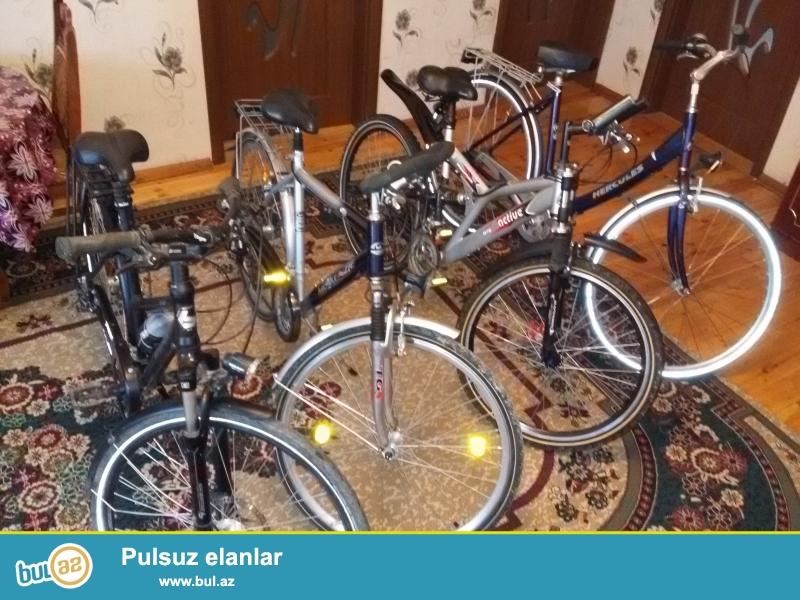 Almaniyadan getirilmis velosipedler var.Her nov velosipedlerin Temiri ve aksesuarlari var...