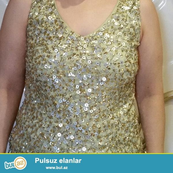 Vera Moda firmasının,42-44 razmer,qızılı rəngli biserli kofta...