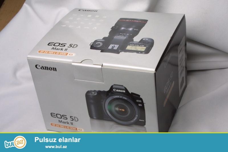 EF 24-105mm ilə Canon EOS 5D Mark II<br /> <br /> istifadəçi manual:<br /> Brand Canon<br /> Model 5D Mark II<br /> Əsas Xüsusiyyətlər<br /> Camera növü Digital SLR<br /> Optical Zoom 4...