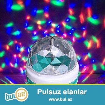 360 Dərəcə fırlanan Dekorativ LED lampalar...Rəngli işıqlı lampalar...