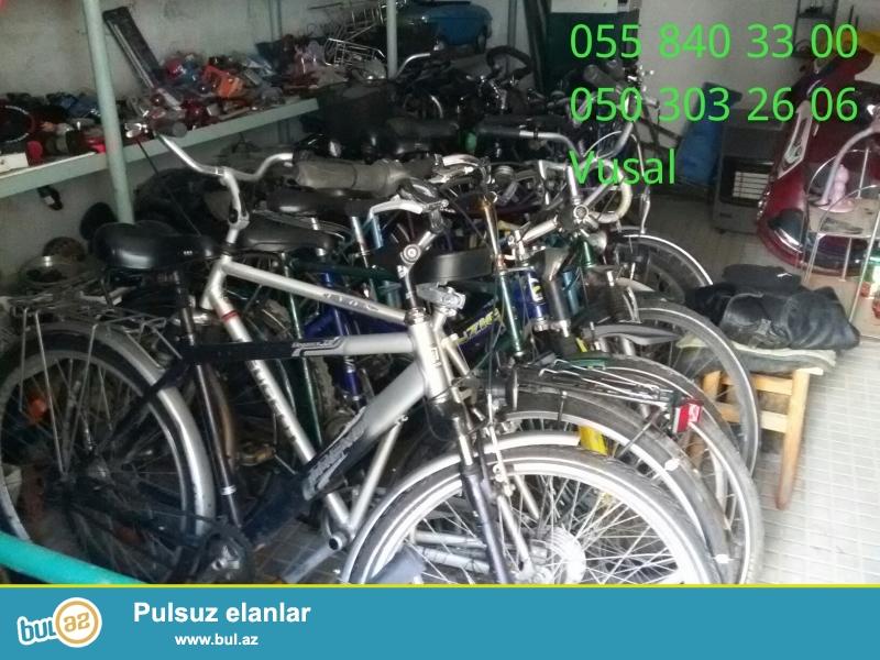 Almaniyadan getirilmis az islenmis velosipedler var...