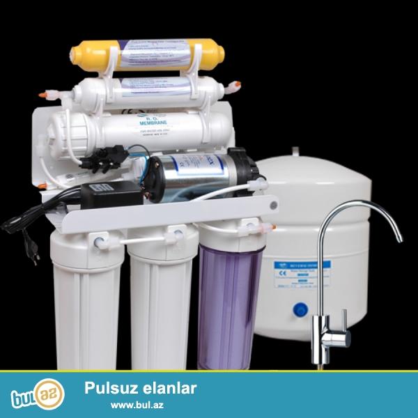 su temizleyici qurgularin temir ve servisi filterlerin deyisdirilmesi