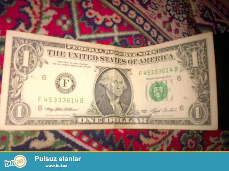 1996 ci  ilin mezennesine ait 1 dollarlar. Yaxsi veziyyetdedirler