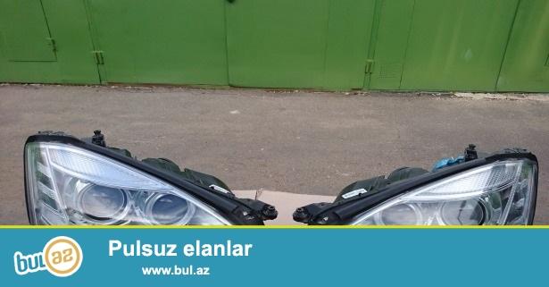 фары передние левая и правая ресстайлинг найт вижен без дефектов на Mercedes s221