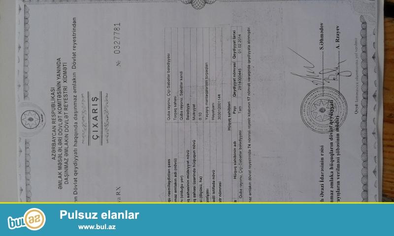Təcili; Təngaltı, Səbətlər kəndində 15 sot torpaq sahəsi satılır...