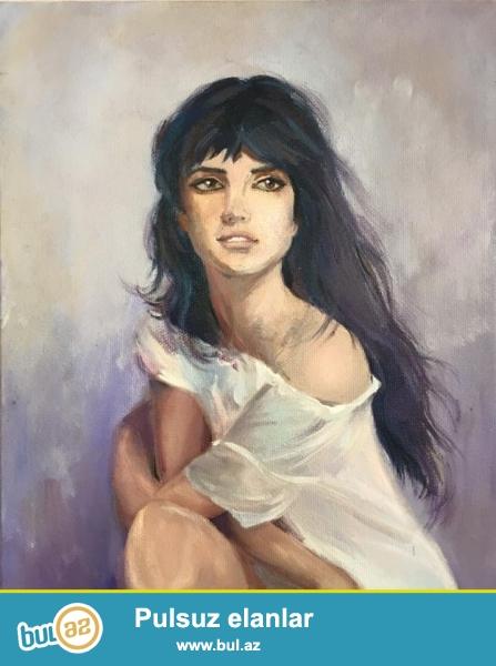 yagli boya resm eserleri  ressam Leyla Huseynova