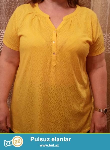 Yessica firması,XL firması,pambıq materialdan,sarı rəngli kofta...