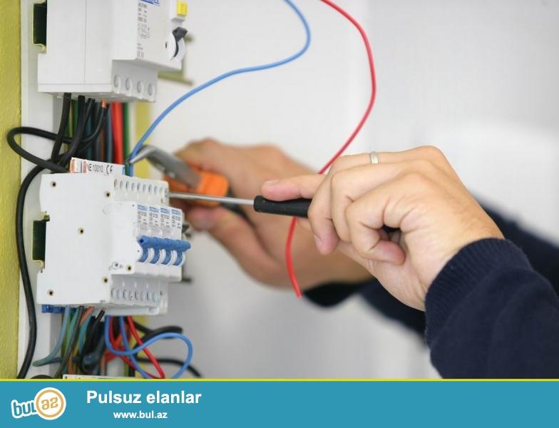 Elektrik isleri serfeli qiymete .Yuksek keyfiyyetli is xidmetleri 25 - illik staj<br /> Whatsapp : 055 910-23-41