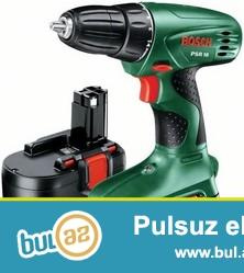 Satılır akkumlyatorlu vint açan drel Bosch PSR 18 ...
