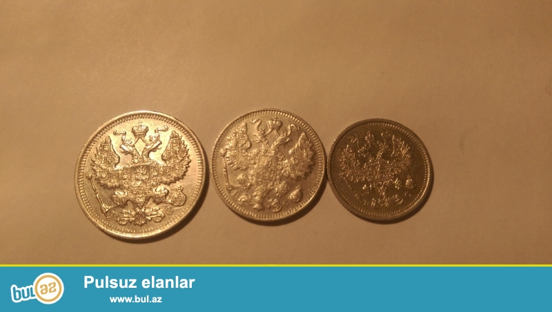 1878- 1916 ci illerrin gumush 10,15,20 qepikleri satilir tek tek...