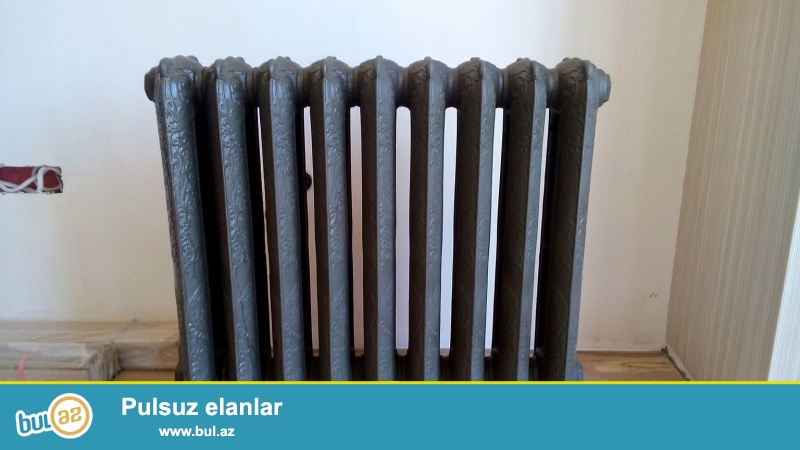 Çuqun dekorativ radiator. Təzədir, işlənməyib, yeni gətizdirilib...