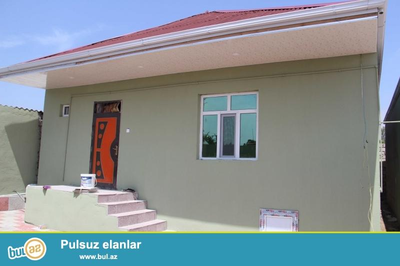 Sabuncu rayonu Zabrat qesebesinde 2 sot torpagin icinde cut das kursulu 3 otagli heyet evi...