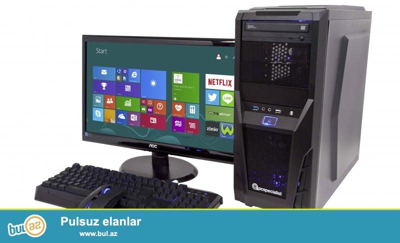 PC for cheap and urgent sale! <br /> (Ucuz və təcili olaraq stolüstü Kompüter Satılır)<br /> HDD-1TB Seagate (Sərt Disk-1TB Seagate)<br /> Motherboard-DDR3 Foxconn (Ana Plata-DDR3 Foxconn)<br /> RAM-4GB DDR3 (Əməli Yaddaş-4GB DDR3)<br /> VGA-1GB DDR3 (Ekran Kartı-1GB DDR3)<br /> For some informations please feel free to contact me and we can agree on price...