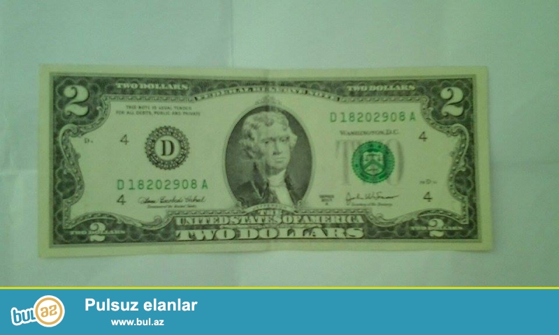 2 dollar satıram tezedi ,qıymetı 40azn.qıymetde razılaşmaqda olar...