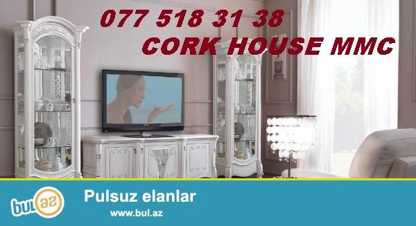 Cork House MMC firmasi istenilen nov qonaq,yataq,metbex,usaq otagi,ofis,yumsaq,skaf kupe,komodlar tv stendler ve s...
