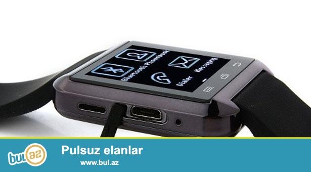 Məhsul İstifadə Olunmayıb, YENİDİR...<br /> <br /> Agıllı Saat Blutuz vasitəsi ilə Mobil Telefonunuza Qoşulur <br /> Android və iOS (iPhone) sistemləri ilə işləyir...