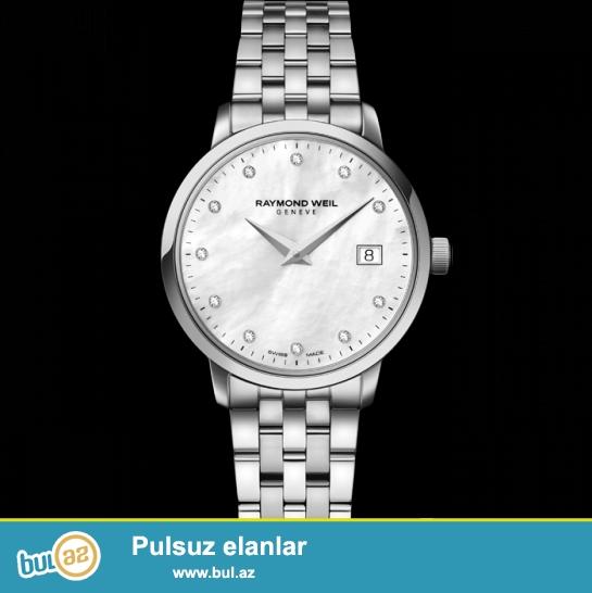 Original Isveçrə qadın saatı, yenidir, 11 dənə brilliant daşı var, sferblat sədəfdir, qarantiyasi var.