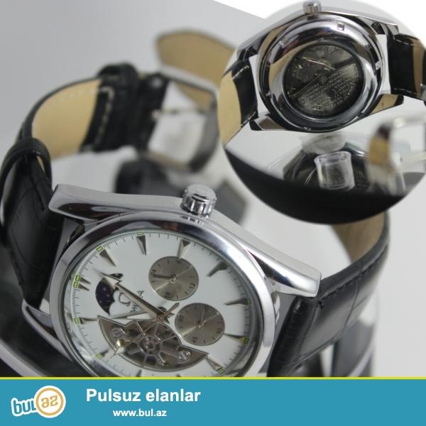 Omega saat satilir tezedir oz qutusuda var.Satisda qiymeti iki qatinadir en asagisi...