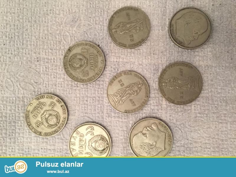1rubl,dəmir qəpik,1870-1890,1965-ci illər,12 ədəd