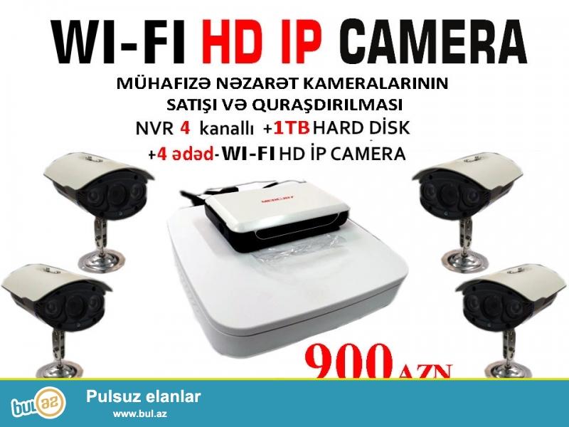 WI-FI HD İP CAMERA kameralarının satışı və quraşdırılması<br /> WI-FI HD İP CAMERA kameraları ilə Siz obyektlərinizə tam nəzarət edə biləcəksiniz...