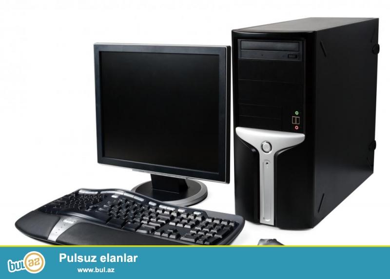 Çox yaxşı vəziyyətdə  5 ədəd Fərdi Kompyuter satılır,,,,,,,<br /> <br /> Monitor , Klaviatura ,  Mouse və Qulaqciqlar  üstündə verilir <br /> <br /> <br /> QİYMƏT: 120 azn