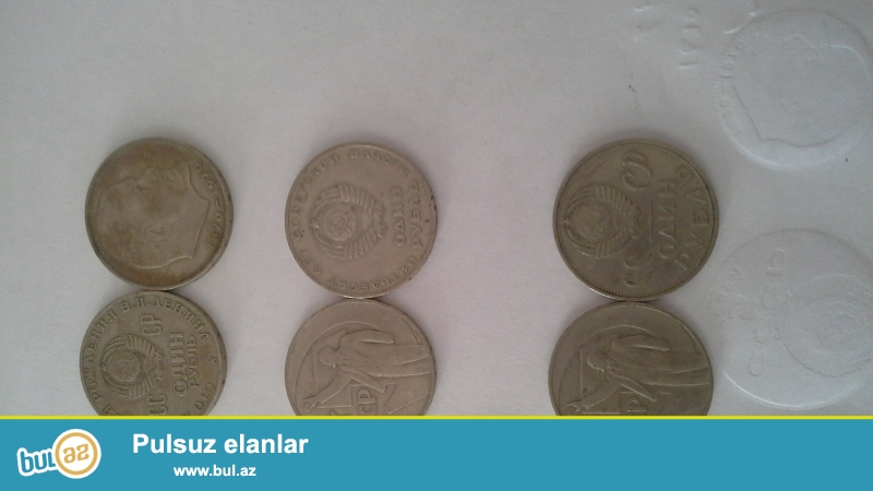 1981-1rubl (2eded) -100 azn<br /> 1859-1906 1 rubl  (1eded) 500 azn<br /> 1945-1985 1rubl  (1eded) 50 azn<br /> 1941-1945 1rubl  (5 eded) 50azn<br /> 1977-1980 1rubl  (4 eded) 250az <br /> 1812 -1rubl (1eded) 1000 azn<br /> 1828-1910 1rubl (2 eded) 1500 azn<br /> 1889-1929  1rubl  (1eded) 300 azn<br /> 1980 1rubl (1 eded) 70 azn<br /> 1917-1977 1rubl (1 eded) 150 azn<br /> 1959 1rubl  ( 1eded) 50 azn<br /> 1870-1970 1rubl (41 eded ) 15...