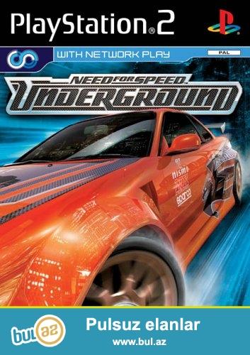 NFS Undergraund <br /> NFS Undergraund 2 <br /> Ps2 oyun diski 1-diskde 2-oyun