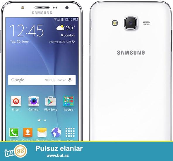 Samsung j7 hec bir problemi yoxdu ustada olmuyub araxasida acilmiyib 16 gb ag reng yaxwi vezyetdedir tecili satilir 320 azn awagi yeride var elaqe 051 977 55 55